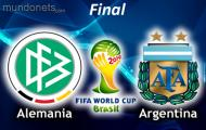 Alemania vs Argentina domingo 13 de julio de 2014 | Final Mundial de Brasil