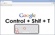 Recuperar las pestañas de Chrome con CTRL+SHIFT+T